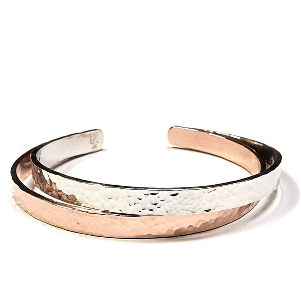 Secret Message Cuff Bracelet - Sterling Silver, 10K, 14K or 18K Gold