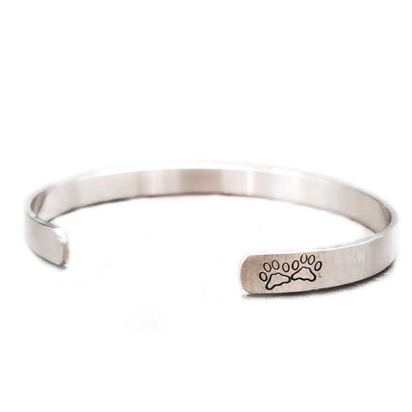 Personalized Pet Memorial Bracelet - Sterling Silver, 10K, 14K or 18K Gold