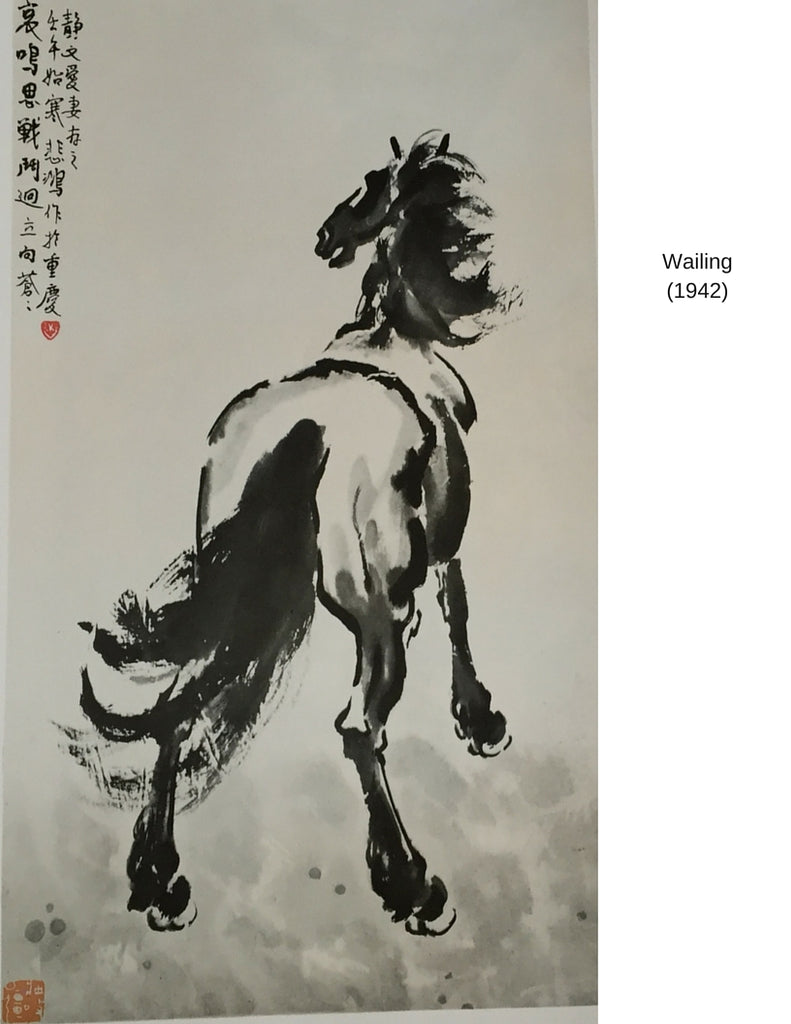Sensibilitie blog post on Xu Beihong's wailing horse painting