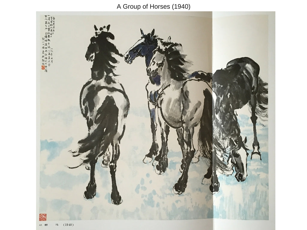 Sensibilitie blog post on Xu Beihong's painting of three horses