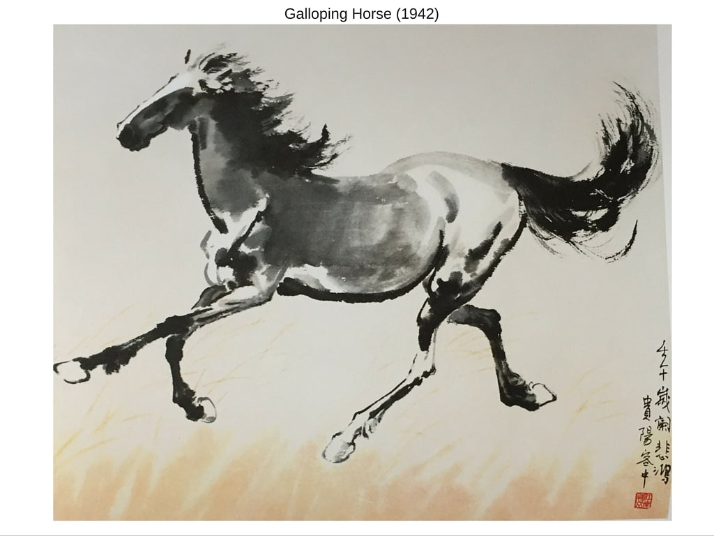 Sensibilitie blog post on Xu Beihong's painting of galloping horse