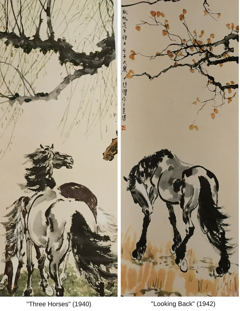 Sensibilitie blog post on Xu Beihong the artist and his horse paintings