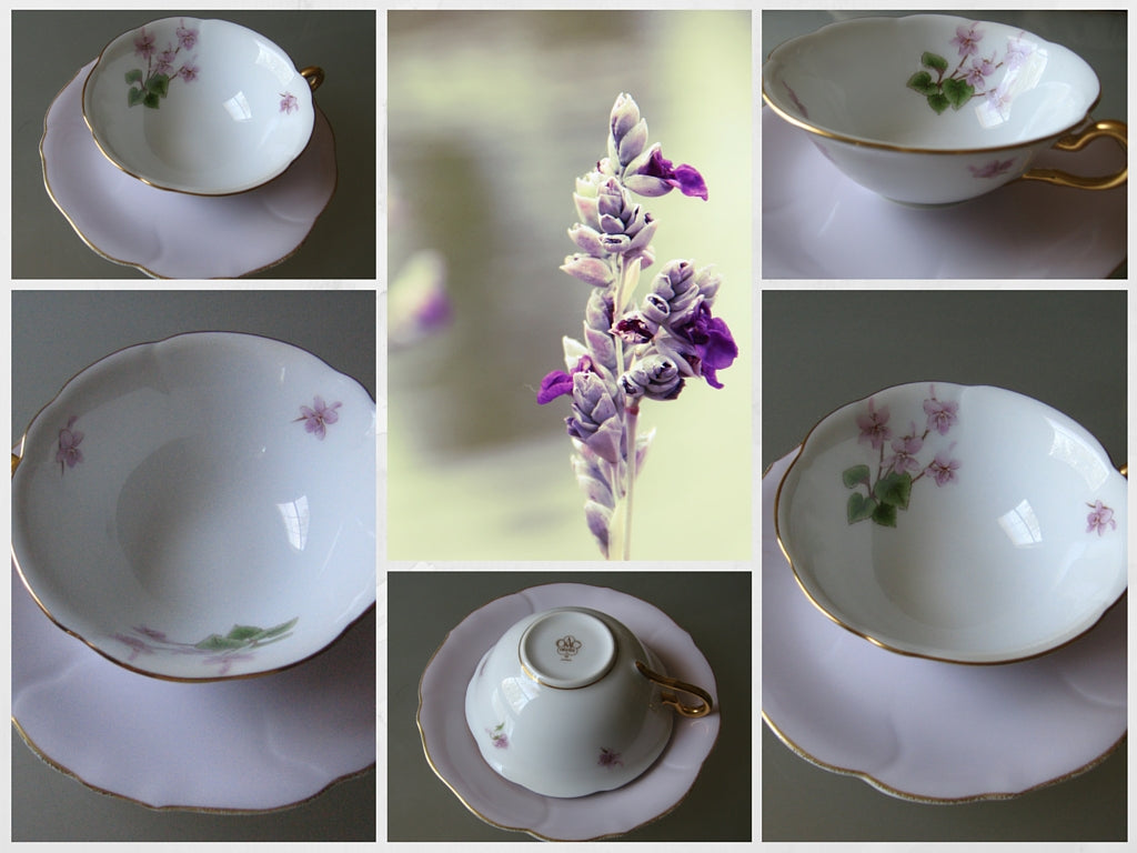 purple floral fine art China collection