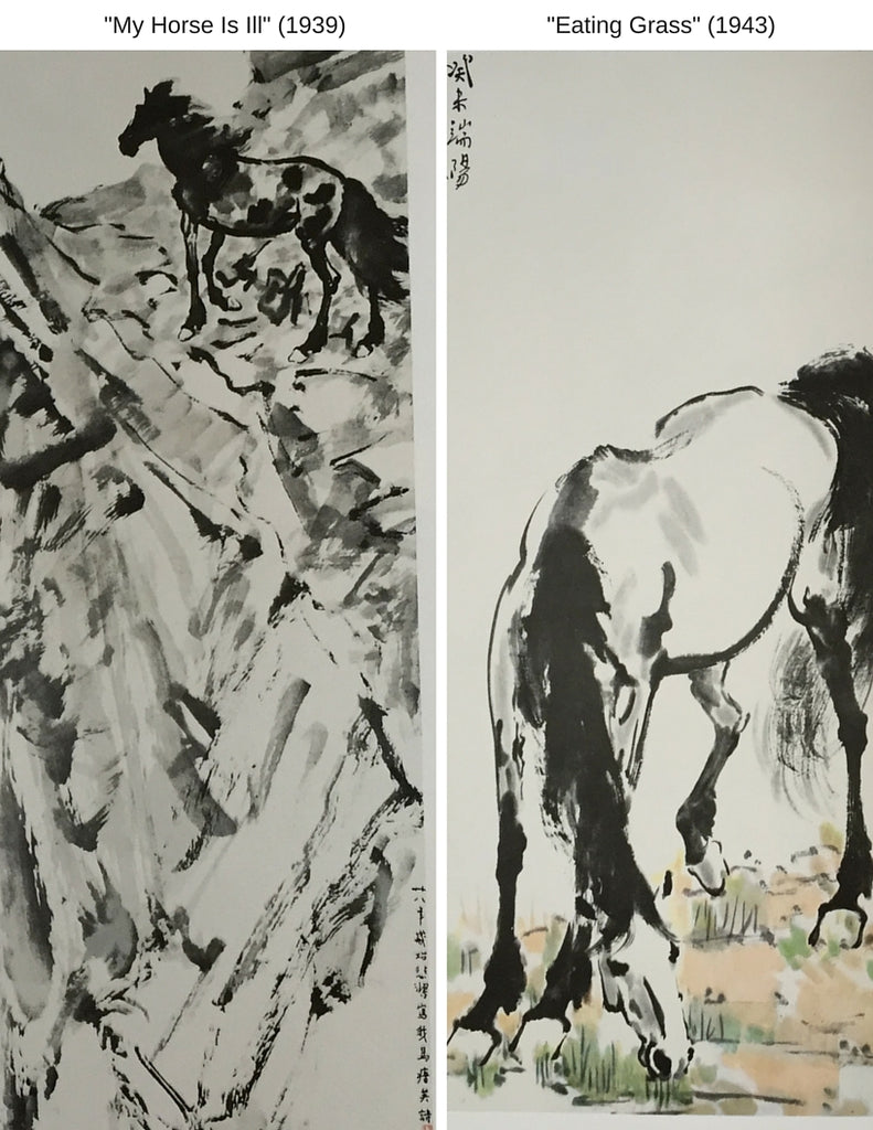 Sensibilitie blog post on Xu Beihong's my horse is ill painting