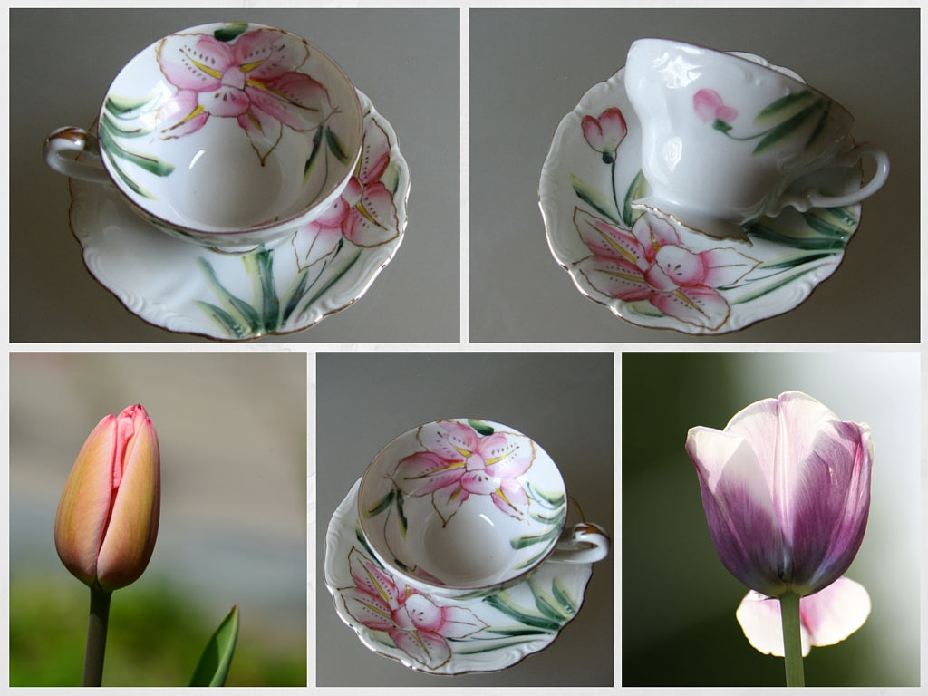 Hong's favorite tulips China teacup sets
