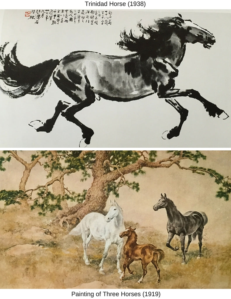 Sensibilitie blog post on horse painting by Chinese artist Xu Beihong
