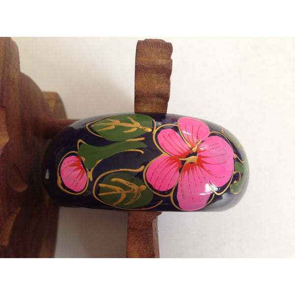 hand painted floral bangle