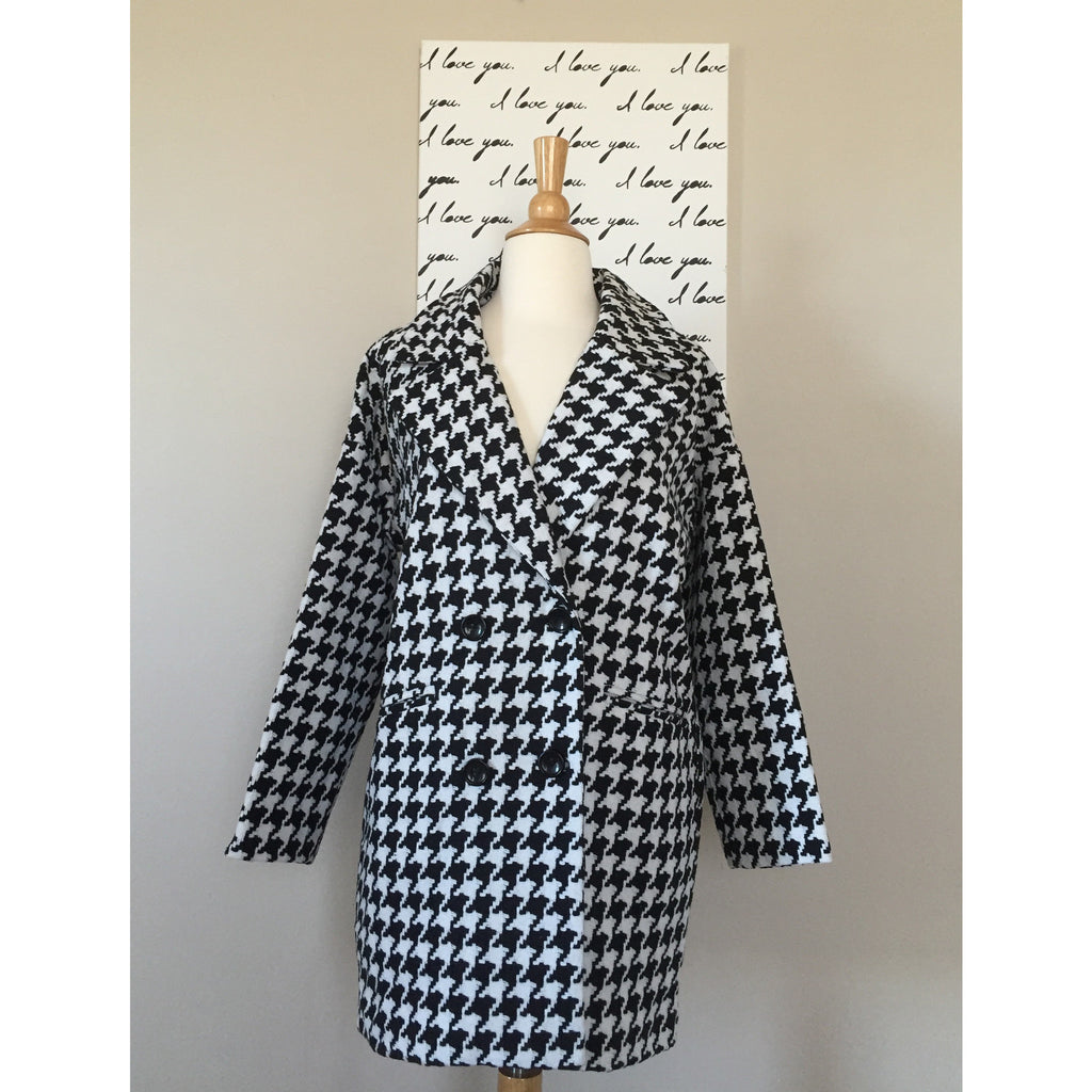 Classic Houndstooth Coat