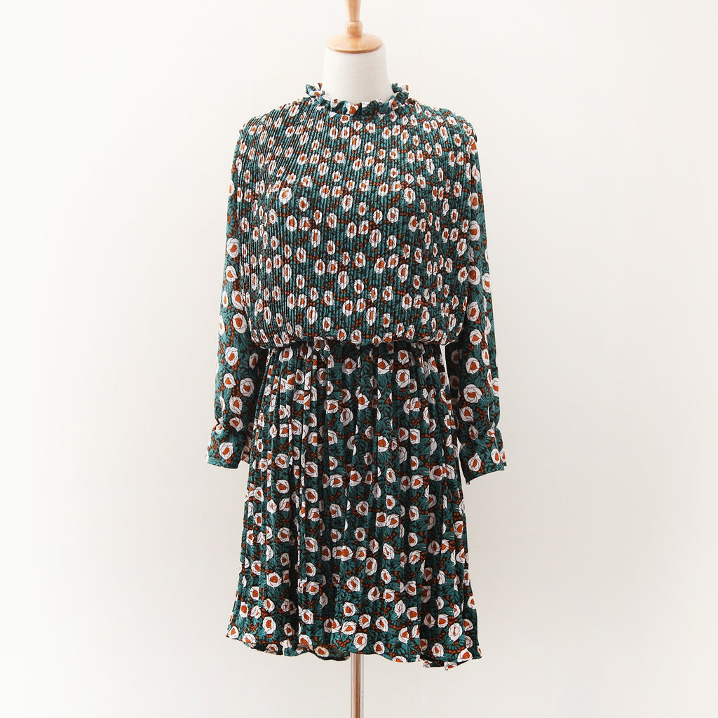 Spring Blossoms Dress - green