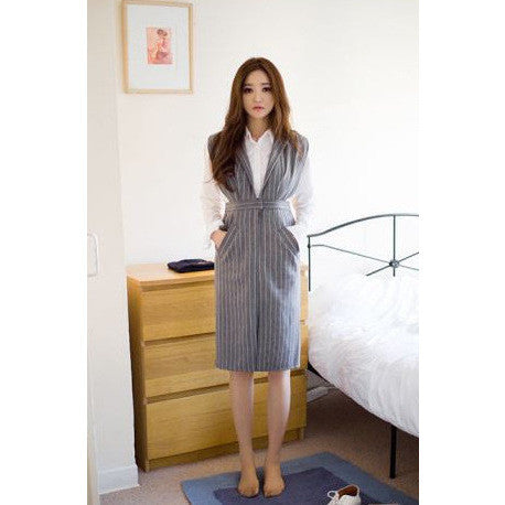 Pinstripe Vest Dress