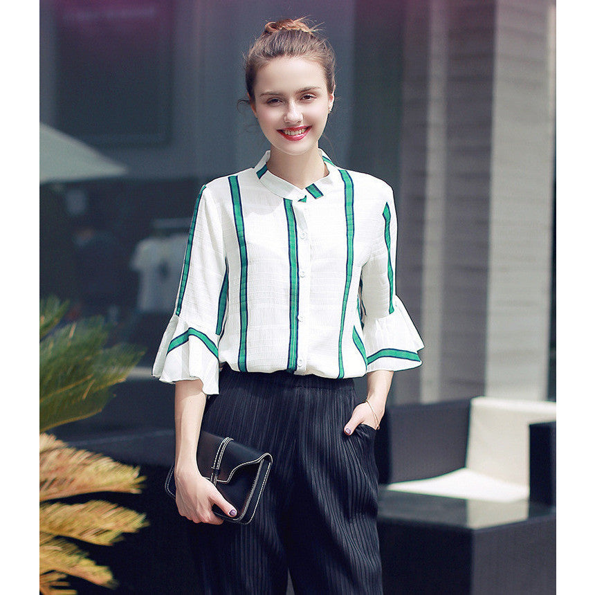 colorblock vintage blouse