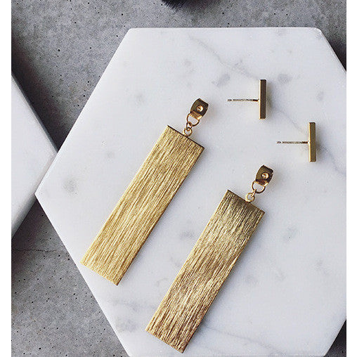 gold bar earring