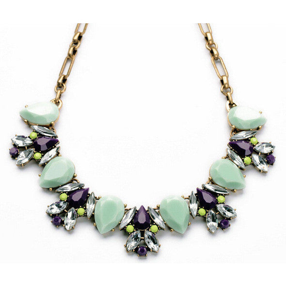 juicy color stone necklace