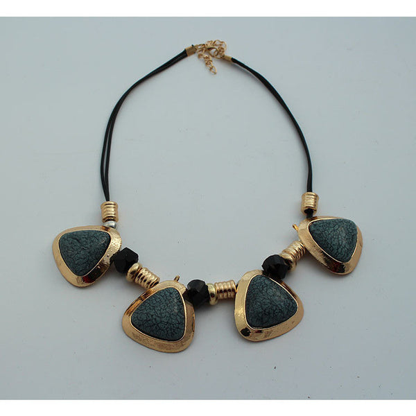 antique green stone necklace