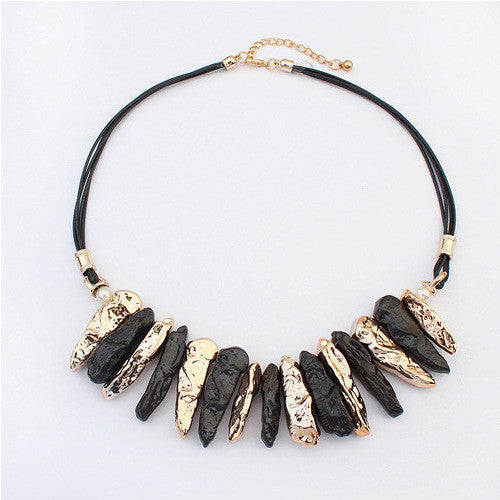 metalic chunky necklace