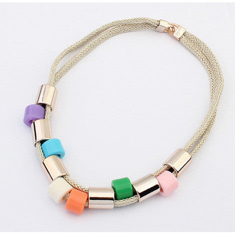 color block choker