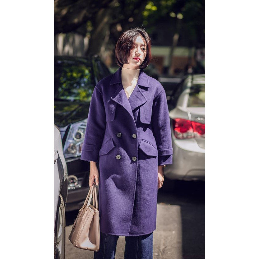 Romantic Purple Trench Coat