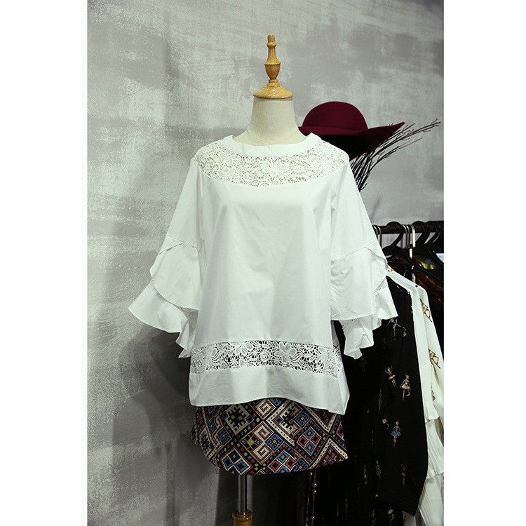 romantic frill flutter blouse
