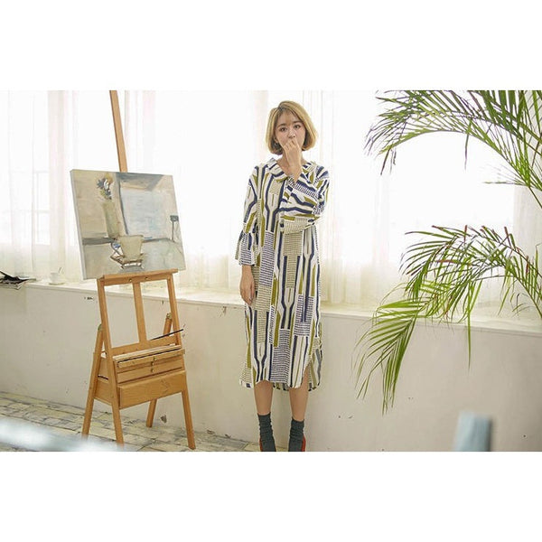 Artist In Work Shirt Dress