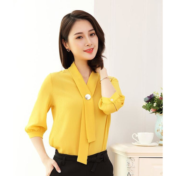 straight necktie blouse