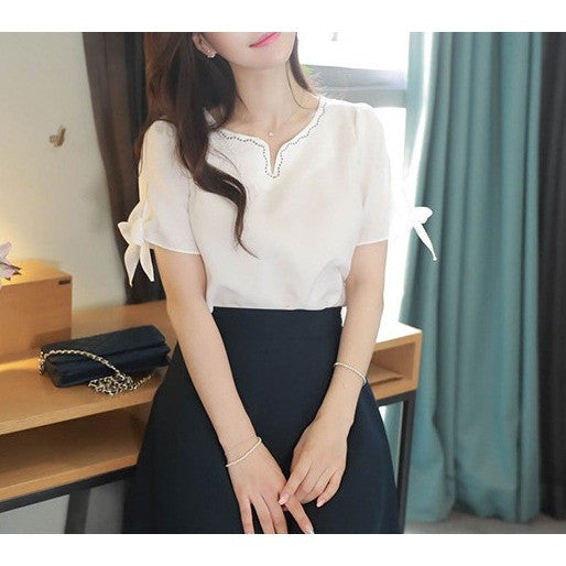 girlish ribbon blouse