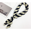 Black and White Skinny Scarf