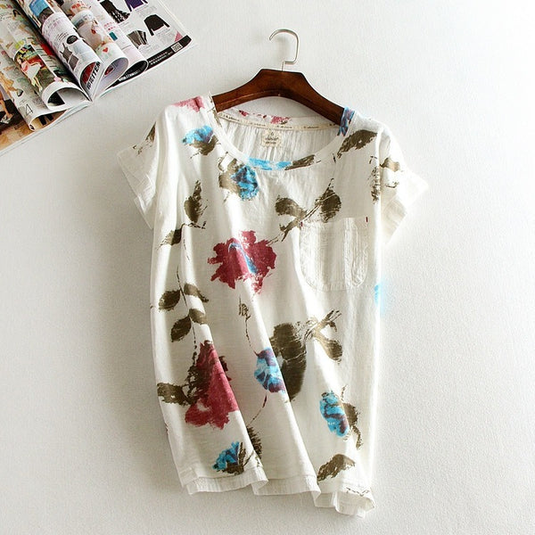 watercolor print t-shirt