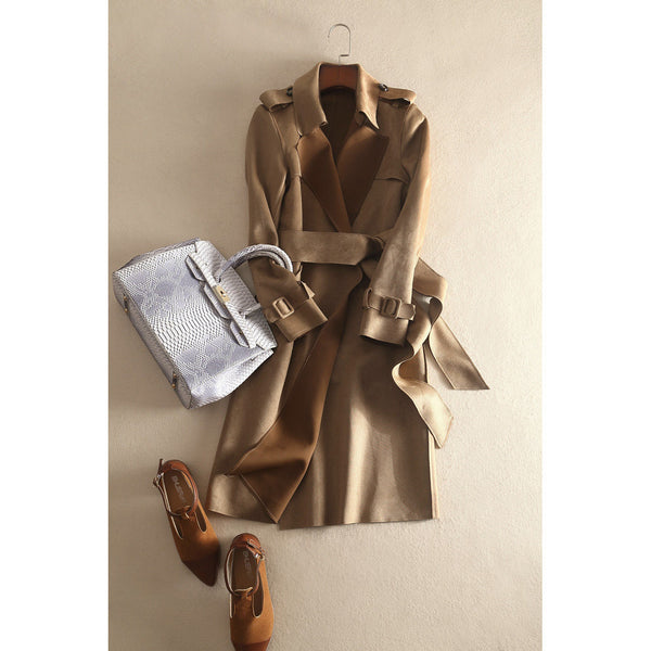 Safari Camel Trench Coat - beige
