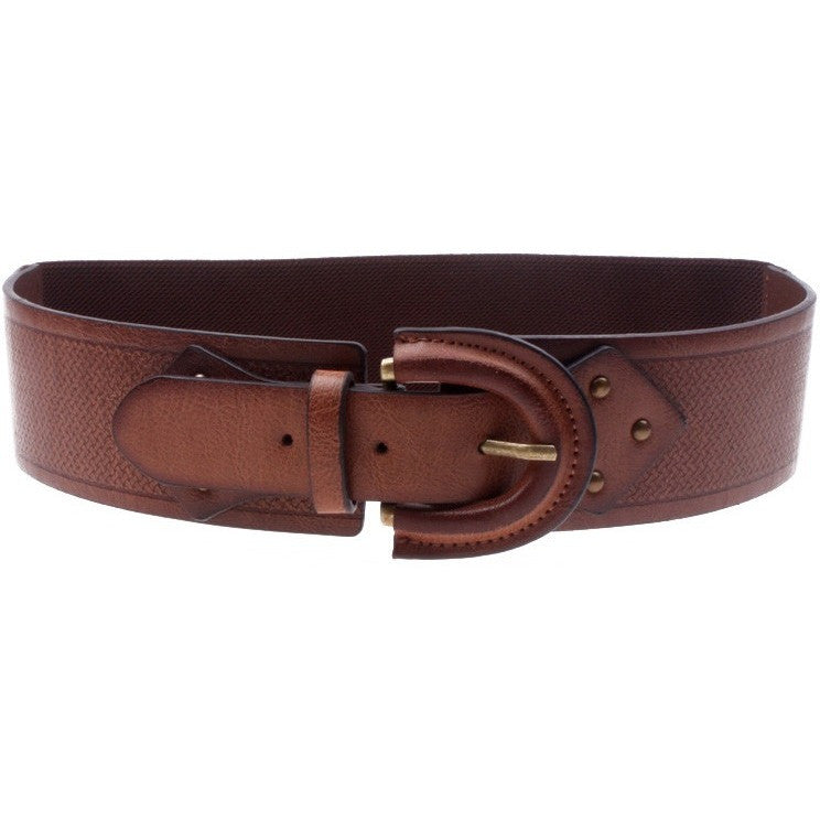 Sharing Shapes Belt - dark brown