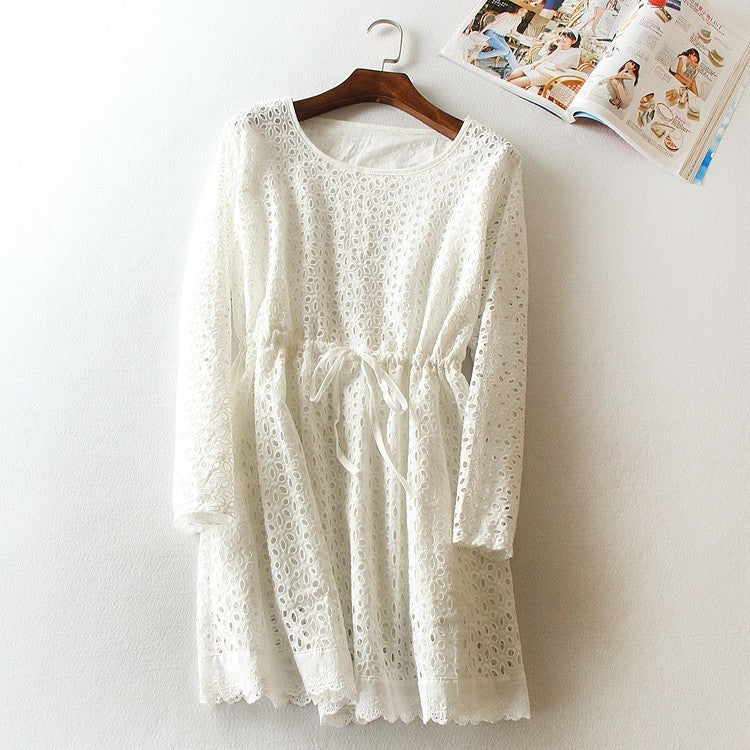 beautiful eyelet gathered dress