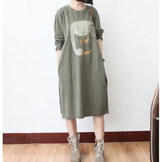 cute goose distressed dress