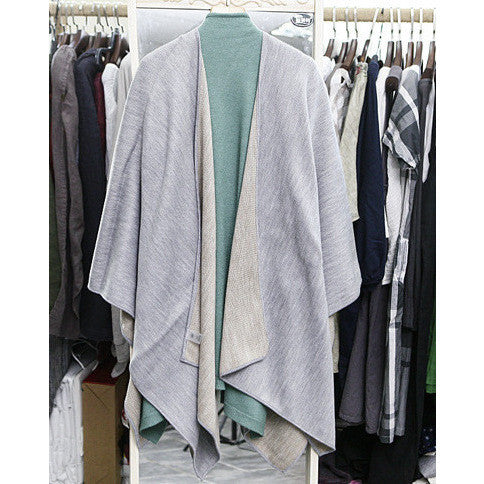 asymmetric oversized shawl cardigan