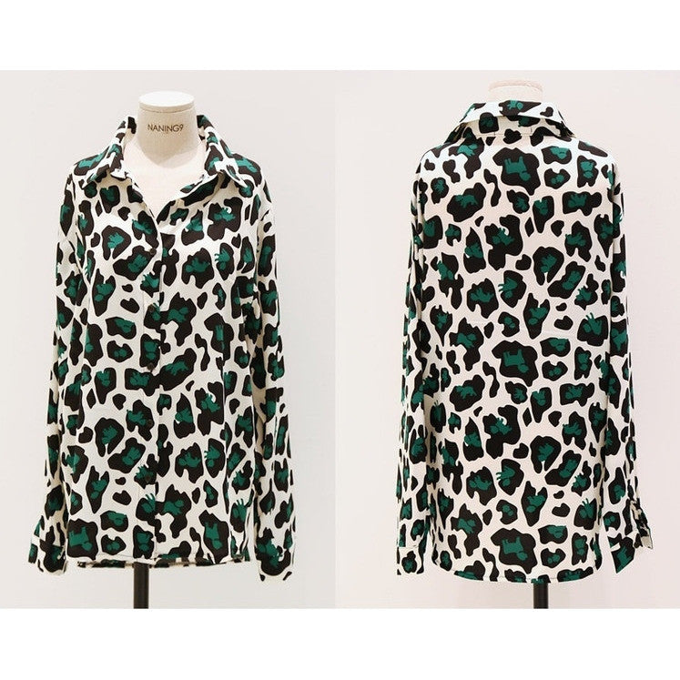 Leopard in the Forest Blouse