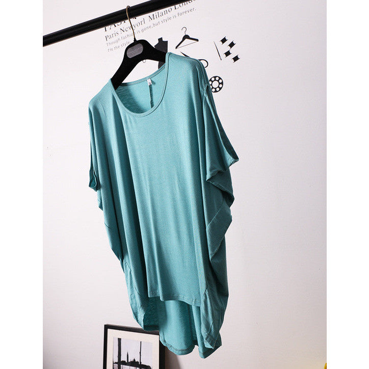 teal baggy chic top