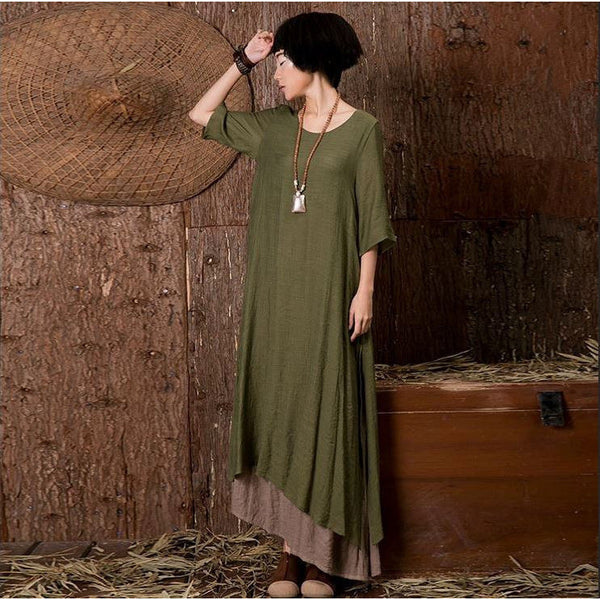 Free At Last Dress - dark green