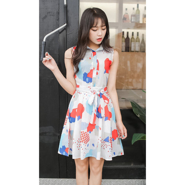 raindrop print dress
