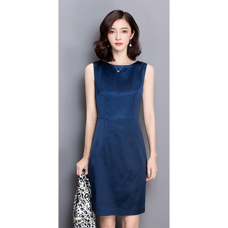basic navy dress