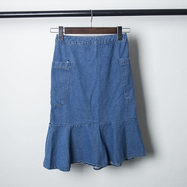 denim peplum skirt