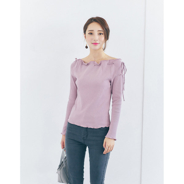 drawstring knit top