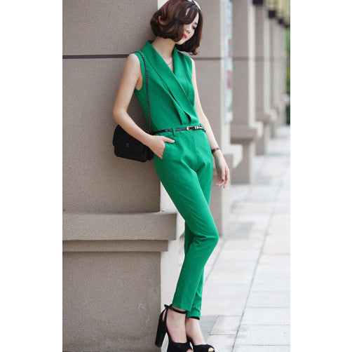 chic green jumpsuit