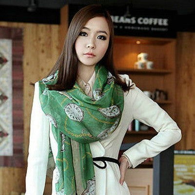 chain watch scarf (green)