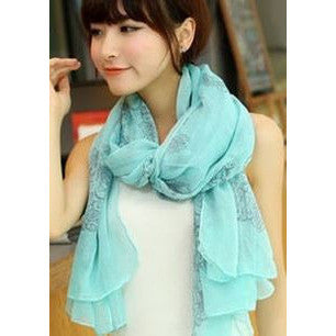 Medieval Pattern Scarf - Tiffany blue