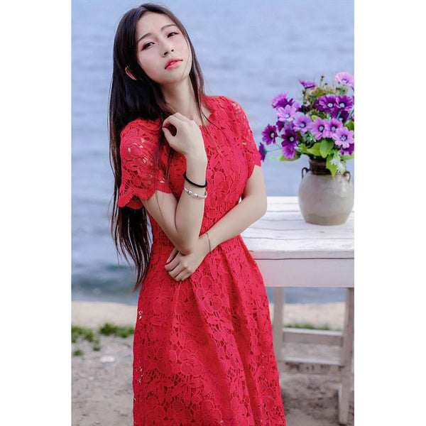 Fall in Love Again Dress (red)
