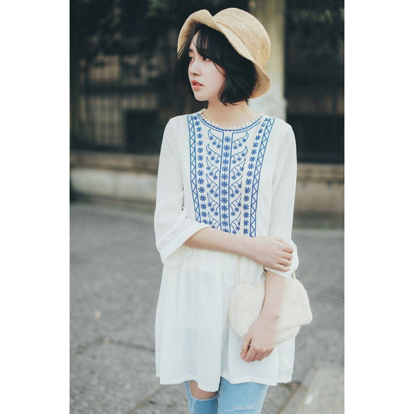 Japanese fashion babydoll tunic