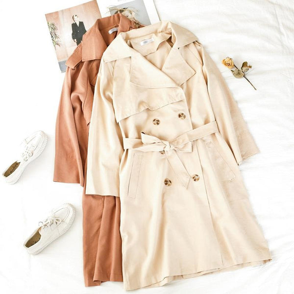 soft elegant feminine trench coat