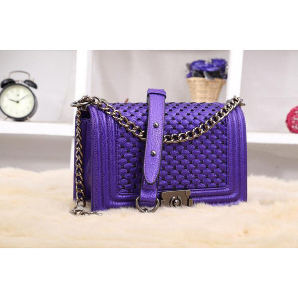 Deep Purple Quilted Bag