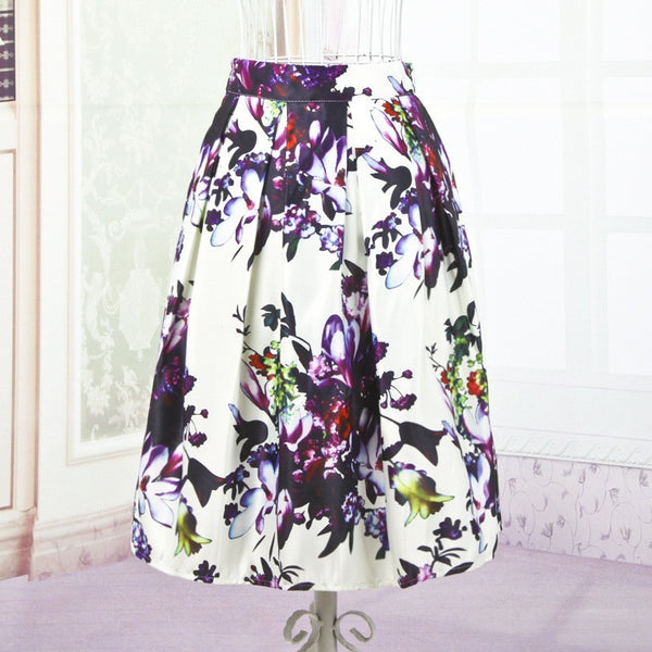 Flowers for Romance Skirt - white tone