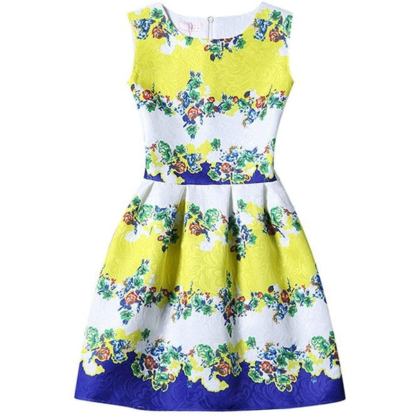 bright floral wedding guest dress