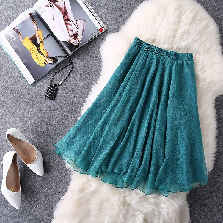 Jewel tone party skirt