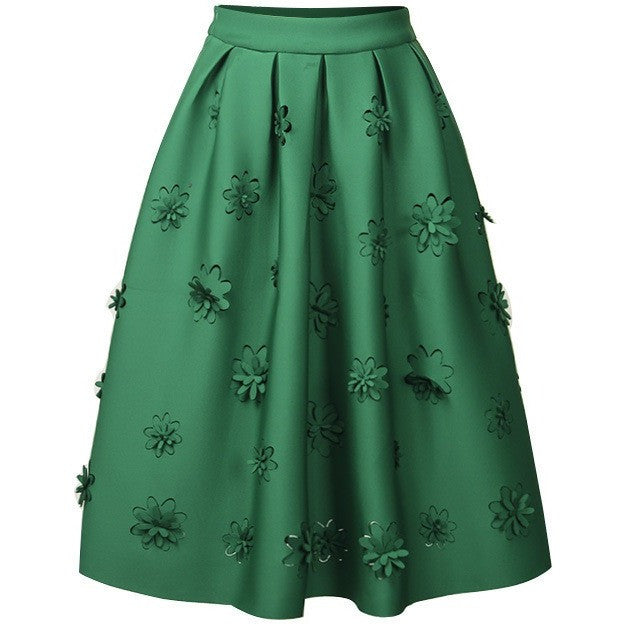 applique flowers skirt